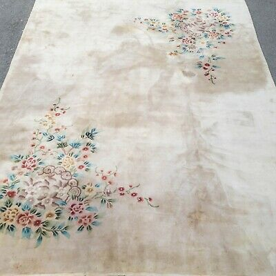 £249 • Buy Chinese Art Deco Taupe Handwoven Sculpted Carpet 12'2 X9' (317x276cm Rug)