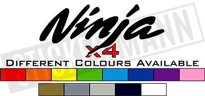 £5 • Buy 4 X KAWASAKI NINJA TANK FAIRING STICKERS / DECALS - DIFFERENT COLOURS AVAILABLE