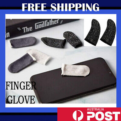 AU5.21 • Buy 10 Pcs Mobile Finger Sleeve Touch Screen Game Controller Sweatproof Gloves