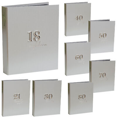 £10.99 • Buy Birthday Photo Album - Silver Number Attachment - 48 5x7 Photos - Choose Age