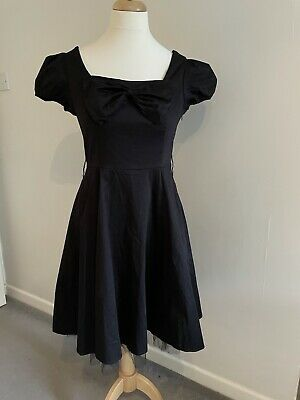 £21.99 • Buy Womens Hearts And Roses Black Bow Front Dress Size 16