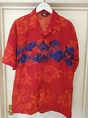 £8.50 • Buy Vintage Chinese Dragon Shirt | XL | Retro Graphic Y2k Festival 90s Party