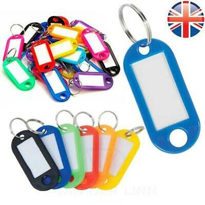 £1.89 • Buy Key Tags Rubber Key Rings Choose Your Own Colour ID Tags Name Label Key Fob Tag
