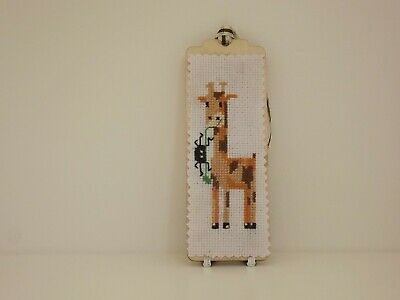 £4 • Buy Cross Stitch Bookmark  Kit Of A Baby Giraffe And Spider