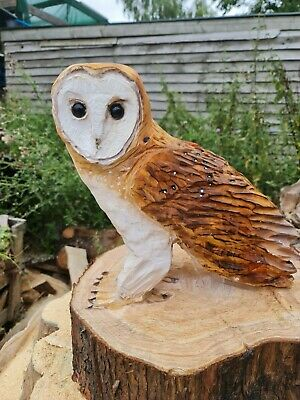 £69.99 • Buy Chainsaw Carved Barn Owl, Garden Sculpture