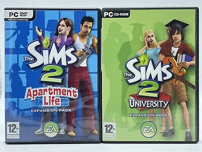 £15.99 • Buy Sims 2 Apartment Life & University Expansion Pack PC