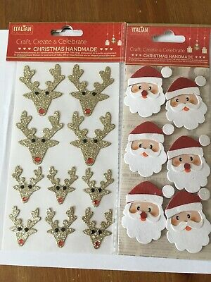 £3.10 • Buy *New In* Handcrafted Christmas Decorations Card Making Crafts Embellishment