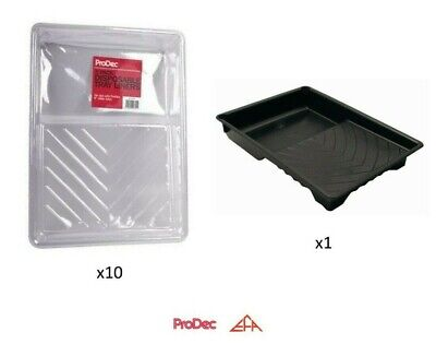 £9.75 • Buy Prodec 9  Paint Tray + 10 X Tray Liners 9 Inch Roller Kit Quick Colour Change