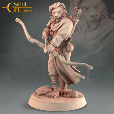 £6 • Buy Leonin Archer, Into The Woods, Galaad Miniatures, D&D, Rpg, Dungeons And Dragons