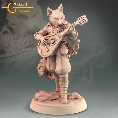 £6 • Buy Kitsune Bard, Into The Woods, Galaad Miniatures, D&D, Rpg, Dungeons And Dragons