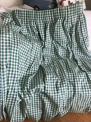 £39 • Buy John Lewis Jonelle Green Gingham Check Checked Curtains 33 X 53