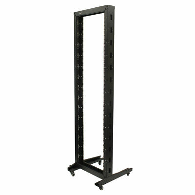 £144.49 • Buy 7ft Open Frame 19  42U 2-Post Network Server Relay Rack Rolling With Casters