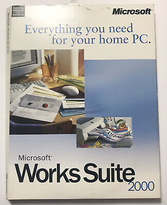 £14.58 • Buy Microsoft Works Suite 2000 7 CD Set With Product Key Vintage Pre Owned Used