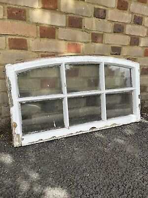 £99.99 • Buy Reclaimed Old Victorian Edwardian Arch Panel Wooden Sash Window 470 X 970mm