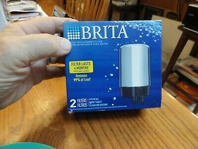 £18.18 • Buy 2 Brita On-Tap Faucet Water Filter Replacements Chrome Filters FR-200  Fast Ship