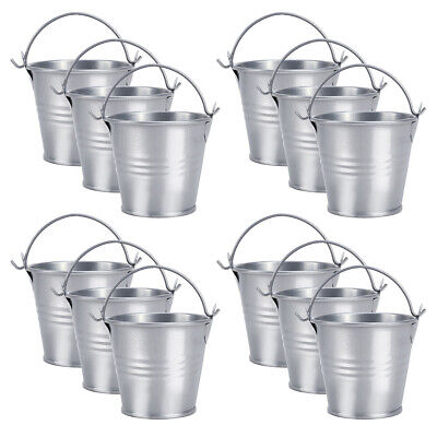 £10.49 • Buy 12 Mini Metal Bucket Candy Box Souvenirs Gift Pails For Party Favors Trinkets
