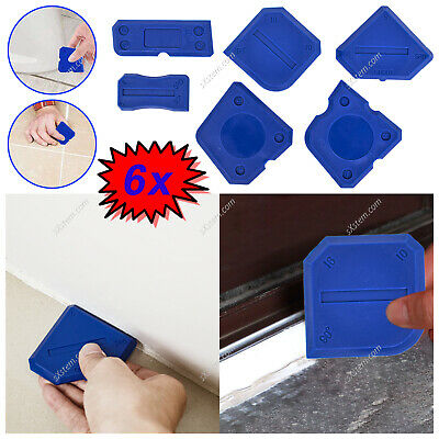 £4.99 • Buy 6 Silicone Sealant Spreader Finishing Kit Caulk Tile Blue Grouting Tool Smoother