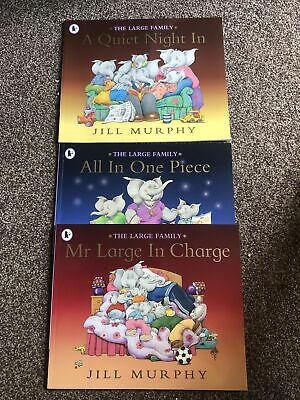 £3.99 • Buy The Large Family -3x Child Reading Books Bundle - LARGE IN CHARGE, A QUIET NIGHT
