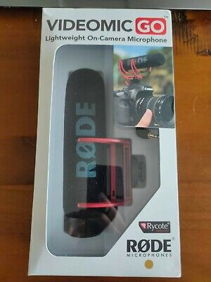 £47 • Buy Rode VMGO VideoMic GO On-Camera Microphone - Black With WindShield And 2m Aux