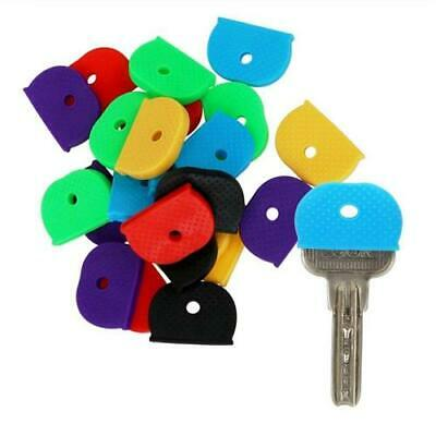 £1.89 • Buy Rubber Key Caps Choose Your Own Colour Pack Of 8 Covers Keyring Id Marker Tags