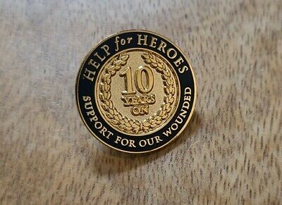 £4 • Buy Help For Heroes 10 Years On Pin Badge RARE