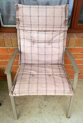 AU29.99 • Buy 6 OUTDOOR SETTING ARMCHAIRS / CHAIRS With Padded Covers - Good Used Condition