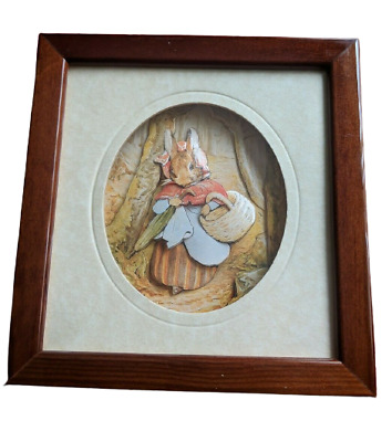 £13.99 • Buy Decoupage Beatrix Potter Framed Picture By Living Pictures