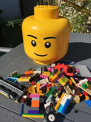 £30 • Buy Large Official LEGO YELLOW STORAGE HEAD BOX TUB CONTAINER Plus 1094 Grams Lego