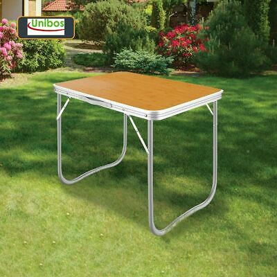 £18.90 • Buy 2.3ft Folding Portable Camping Table, Wooden Mdf,outdoor Dining Bbq Picnic Party