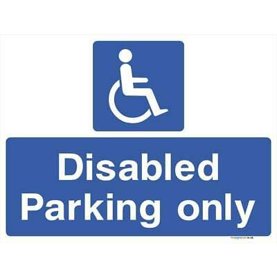 £6.23 • Buy Disabled Parking Only Sign