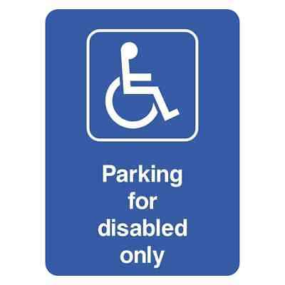 £3.31 • Buy Parking For Disabled Only Sign