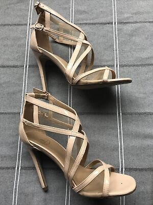 £9.99 • Buy Ladies Nude Patent High Heeled Shoes By Missguided Size 4 / 37