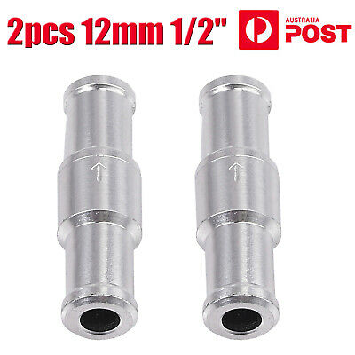 AU14.75 • Buy 2pcs One Way Fuel Non Return Check Valve 12mm 1/2  Petrol And Diesel Oil