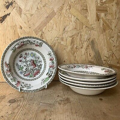 £14.99 • Buy 6 X Vintage Johnson Bros Brothers Indian Tree Rimmed Cereal Bowl - 16cm