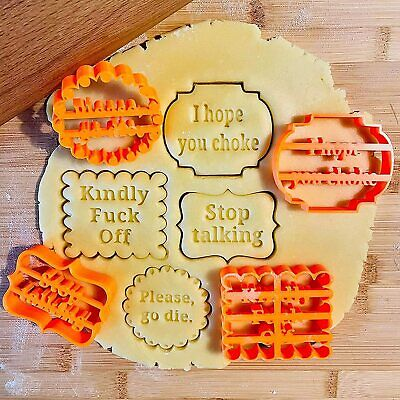 AU5.99 • Buy 4X Wishes Cookies Biscuit Stamps Fondant Cutter Mould Baking Mold Cake Decor DIY