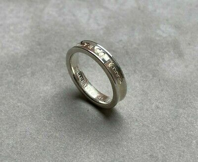 £95 • Buy Genuine Tiffany And Co 1837 Sterling Silver Narrow Ring Size I 1/2 RRP £175