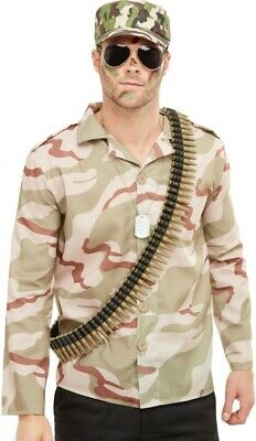 £9.95 • Buy Army Instant Kit Male Mens One Size  Adult Halloween Costume Fancy Dress Party