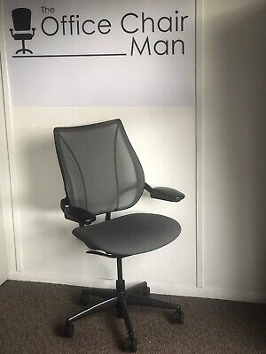 £195 • Buy Humanscale Liberty Freefloat Executive Task Chair Height Adj Arms Mineral Grey