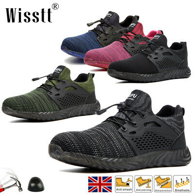 £22.99 • Buy Women Work Boots Protective Steel Toe Cap Safety Shoes Military Hiking Trainers
