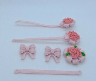 £16.50 • Buy Sylvanian Families SPARES Wedding Car Pink Bow Ribbon Critters Decorations Parts