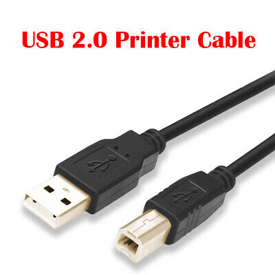 AU4.50 • Buy Universal USB Printer Cable Cord For Brother HP Epson Canon USB Male Type A To B
