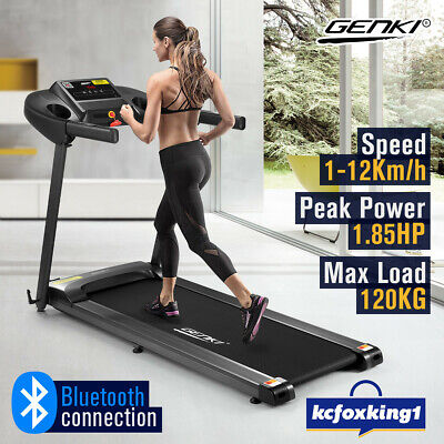 AU619.29 • Buy Genki Electric Treadmill Exercise 1.85 HP Foldable Running Machine Home Gym APP