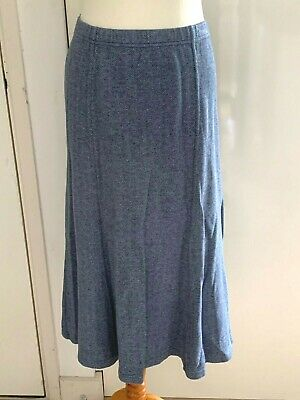 £17.99 • Buy Cotswold Collections Blue Tweed Herringbone Style Skirt Size M/UK 16