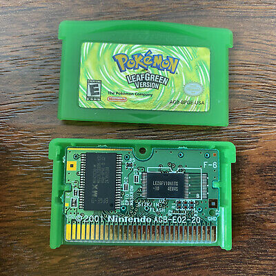 $99.99 • Buy POKEMON LEAF GREEN - AUTHENTIC TESTED SAVES - Game Boy Advance GBA Gameboy