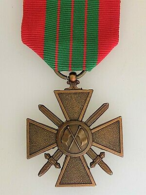 £34.95 • Buy France French WWII 1943 French Croix De Guerre Medal With Flags
