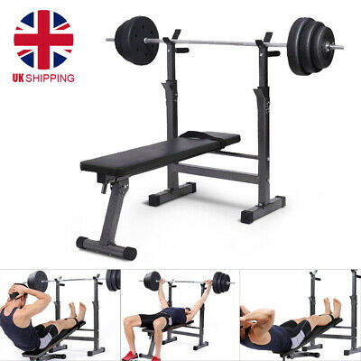 £39.99 • Buy Folding Flat Weight Lifting Bench Body Workout Exercise Bench Home Gym Fitness