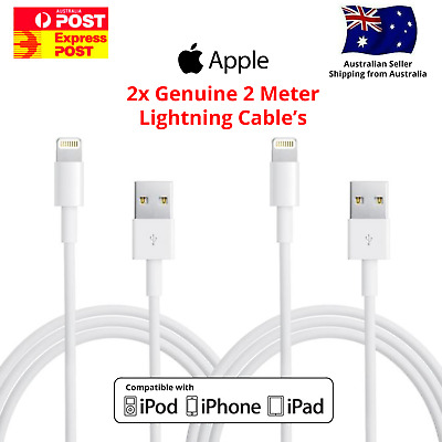 AU17.95 • Buy 2x 2m MFI Certified Lightning Charging Cable For Apple IPhone 5 6 S 7 8 X 11 12