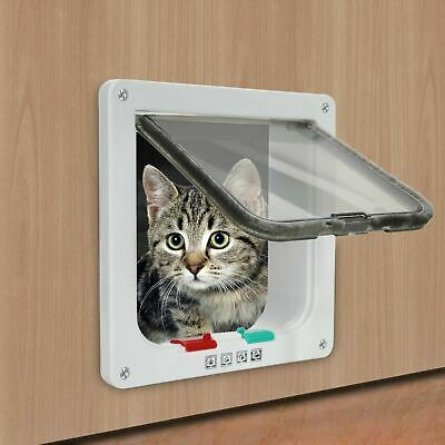 £7.99 • Buy 4-Way Lockable Magnetic Small Cat Flap Pet Door Staywell Dog Tunnel Guard UK