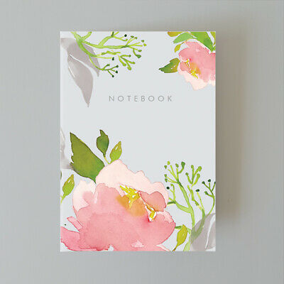 AU25 • Buy A5 Bullet Dot Grid Journal Notebook 80 Pages Floral Pink Peony AUS Made
