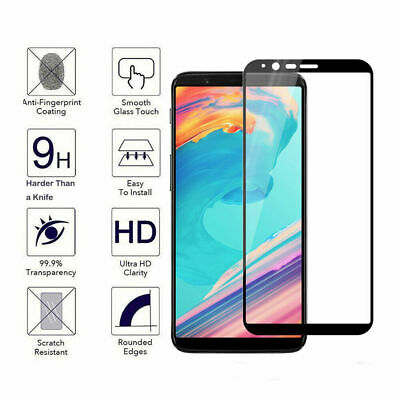 AU9 • Buy For OnePlus 5T 1+5T Tempered Glass 9D Curved Screen Protector Full Coverage New